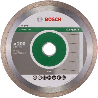 Диск алм. BOSCH Best for Ceramic 200x25.4 корона (сплошной) (2.608.602.636) 200 Х 25.4 10 корона (с