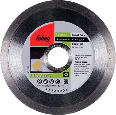 Алмазный диск FUBAG Keramik Extra 33125-3 Ф125x22.2 высота сегм.8мм шир.1.6мм диск алмазный fubag 125х22 2мм keramik pro 13125 3