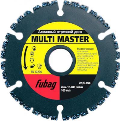 Алмазный диск FUBAG Multi Master 88125-3 Ф125/22.2мм высота сегм.4мм шир.2.2мм диск алмазный fubag 350х30 25 4мм power twister eisen 82350 6