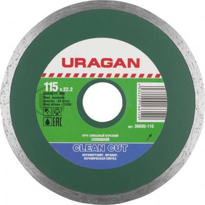 Фото - Круг алмазный URAGAN 36695-180 сплошной влажная резка 22.2х180мм круг алмазный uragan 909 12151 150