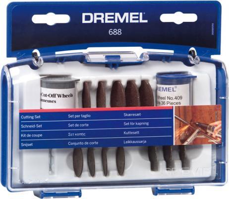 Набор насадок DREMEL 688 для резки набор резцов гравировальных dremel 108