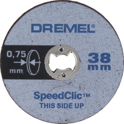 Круг отрезной DREMEL SC409 SPEED CLIC 38мм, толщ.0.75мм, 5шт. цена и фото