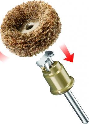 Круг шлифовальный DREMEL 511S SPEED CLIC 25мм, 2шт., грубый и средний абразив шлифовальный круг 38 мм dremel sc541 2615s541ja
