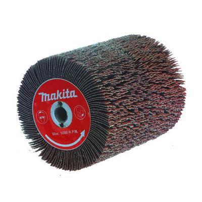 Щетка MAKITA P-01127 100 X 120мм, абразивная K40, для 9741 шлифовальная щетка makita p 65648 для 9741 1 шт