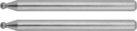 Набор шарошек ЗУБР 35923 алмазные d2.0x3.2мм длина38мм 2шт.