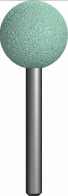 Шарошка абразивная ПРАКТИКА 641-299 шарообразная 25мм, хв.6мм, карбид кремния, Эксперт