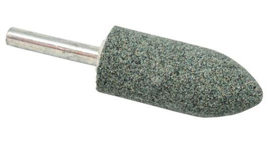 Шарошка абразивная ПРАКТИКА 641-343 цилиндрическая заостренная 22х50мм, хв.6мм, карбид кремния, Экс