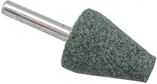 Шарошка абразивная ПРАКТИКА 641-350 коническая 25х32мм, хв.6мм, карбид кремния, Эксперт