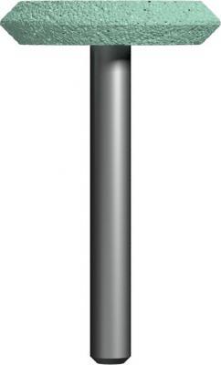 Фото - Шарошка абразивная ПРАКТИКА 641-398 дисковая 32х6мм, хв.6мм, карбид кремния, Эксперт шарошка абразивная практика 641 350 коническая 25х32мм хв 6мм карбид кремния эксперт