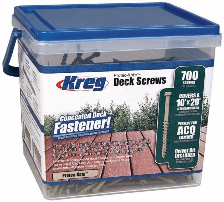 Набор KREG SDK-C2W-700 шурупы 2 protec-kote для deck jig с битой - 700шт. набор резиночки businka бабочка 700шт уп крючок бусины nr005
