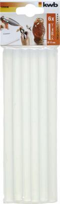 Стержень KWB 5393-06 клеевые стержни 11х200мм прозрачные 120г 6шт. стержни клеевые 11х200мм 20шт