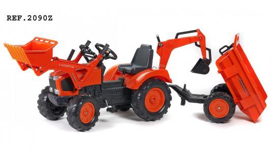 FAL2090Z Трактор-экскаватор педальный с прицепом FALK FAL2090Z красный 219см