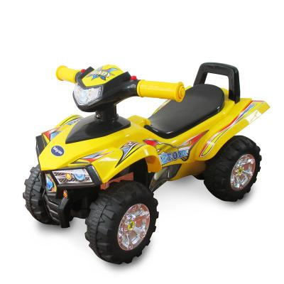 Каталка-квадроцикл Baby Care Super ATV желтый от 1 года пластик