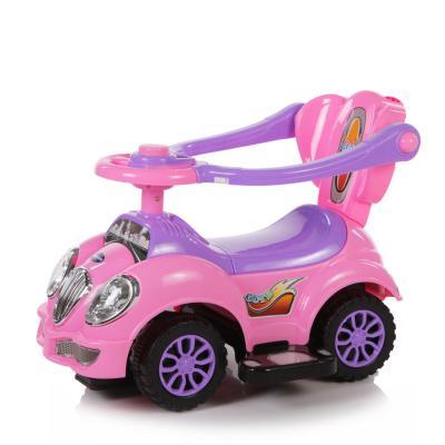 цена Каталка-машинка Baby Care Cute Car розовый от 1 года пластик