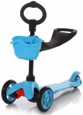 Самокат 21st Scooter Maxi Scooter SKL-06B 120/80 мм синий children s scooter 3 round 4 wheel flash pedal multi function baby walkers triad scooter