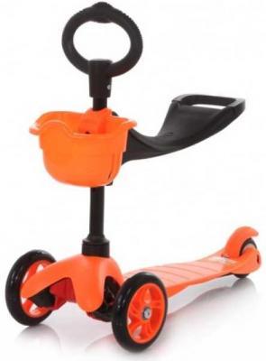 Самокат 21st Scooter Maxi Scooter SKL-06B 120/80 мм оранжевый самокат 3 х колесный 21st scooter 21st scooter самокат 3 х колесный maxi scooter голубой