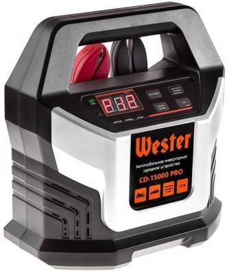 Зарядное устройство WESTER CD-15000 PRO для АКБ 12В, макс 15А, АКБ до 220Ач зарядное устройство wester cd 7200 для акб 12в 24в макс 7а акб до 230ач