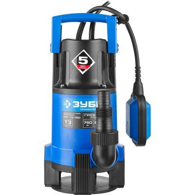 Насос ЗУБР НПГ-Т3-750 профессионал т3 погружной дренажный для грязной воды d частиц до 35мм 750Вт насос погружной зубр нпг т3 400