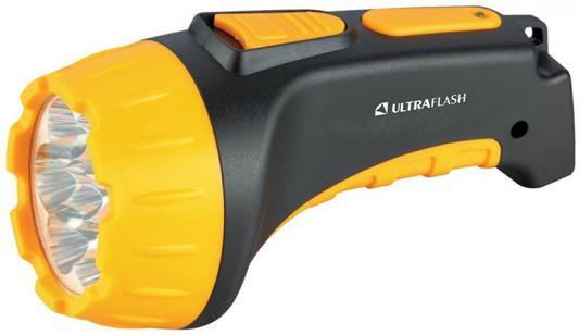 Фонарь ULTRAFLASH LED3807 7 LED 2 режима черный/желтый аккумуляторный фонарь led lenser f1 цвет черный
