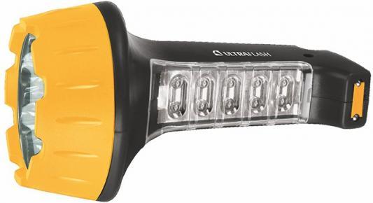 Фонарь ручной Ultraflash LED3819 чёрный желтый фонарь ultraflash led5374