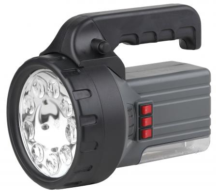 Фонарь ЭРА FA55M Аккумулятор 6V2.5Ah, 9 LED, галогенная лампа 10W, люминесцентная 7W, ЗУ 220V