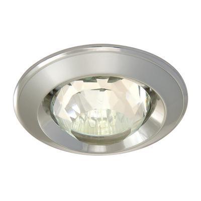 Светильник встраиваемый АКЦЕНТ 16001XQ жемчужный хром/хром со стеклянной призмой, 12В 50W GU5.3 светильник встраиваемый акцент versace wl 650 золото чёрный