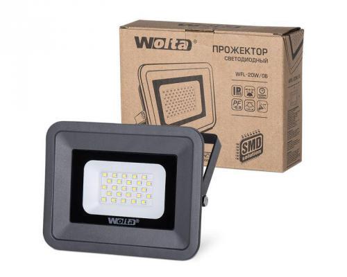 цена на Светодиодный прожектор WOLTA WFL-20W/06 5500K, 20 W SMD, IP 65,цвет серый, слим