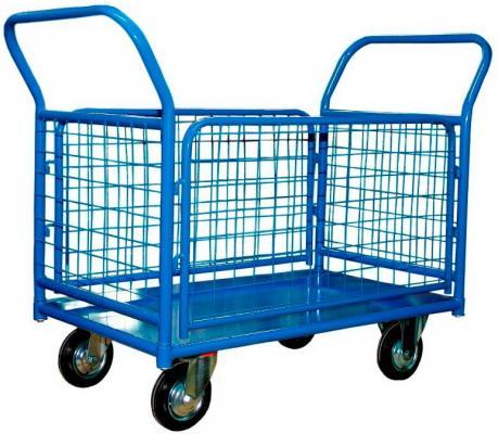 Тележка СТЕЛЛА КПО-300 С борт-сетка 150-И платформенная 4 колеса платформенная 4 х колесная тележка с фанерой стелла кпт 500 150 и