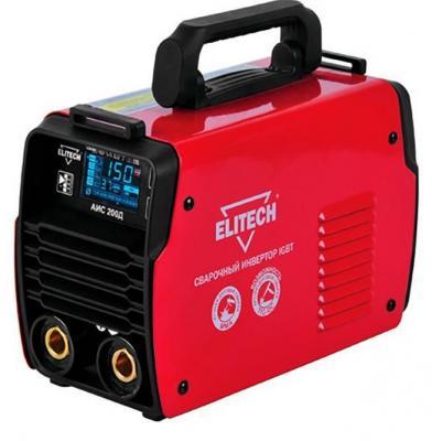 Купить Инвертор ELITECH АИС 200Д (184755) инвертер 110-275в 6.2кВт 10-200а пв=200а/80% o1.6-5мм 3.5кг