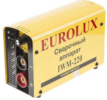Инвертор сварочный EUROLUX IWM220 220В 10-220А ПВ70% 4.85кг инвертор сварочный ресанта саи 160 190 240в 10 160а 1 0 4 0мм