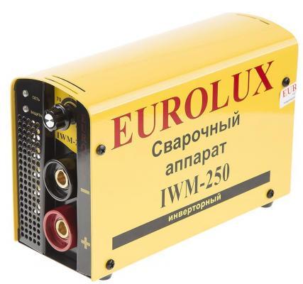 Инвертор сварочный EUROLUX IWM250 220В 10-250А ПВ70% 5кг инвертор сварочный ресанта саи 160 190 240в 10 160а 1 0 4 0мм