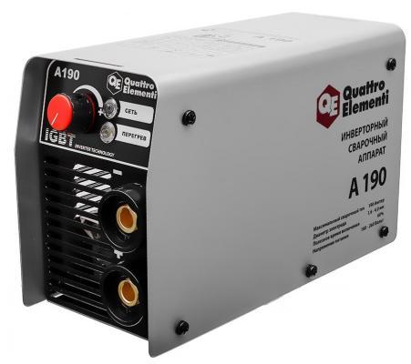 Инвертор QUATTRO ELEMENTI A 190 190 А, ПВ 60%, до 4.0 мм, 3.6 кг, 160-240 В инвертор quattro elementi a 190 190 а пв 60