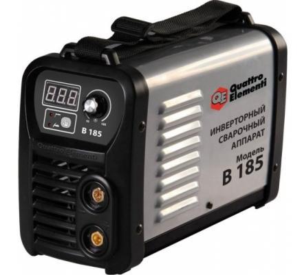 Инвертор QUATTRO ELEMENTI B 185 185 А, ПВ 80%, до 4.0 мм, 5.0 кг, Дисплей, TIG-Lift, от 170В, КЕЙС инвертор quattro elementi a 190 190 а пв 60