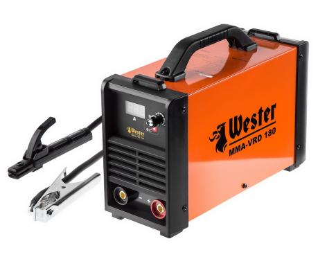 цена на Инвертор сварочный WESTER MMA-VRD 180 10-180A 120-260B ПВ70% 1.6-5.0мм