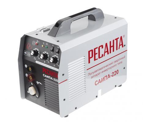Сварочный аппарат инверторный п/а РЕСАНТА САИПА-220 220В 30-220А 70% 0.8-1мм 14.65кг