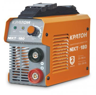 Инвертор КРАТОН NEXT-180 MMA IGBT 20-180А ПВ 60% 150-260в электроды 1.6-4мм 3.8кг инвертор quattro elementi a 190 190 а пв 60