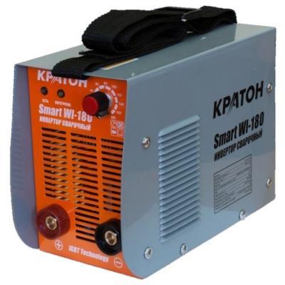 цена на Инвертор сварочный КРАТОН Smart WI-180 6.3кВт 220В 50Гц 10-180А 1.6-4.0мм 6.7кг