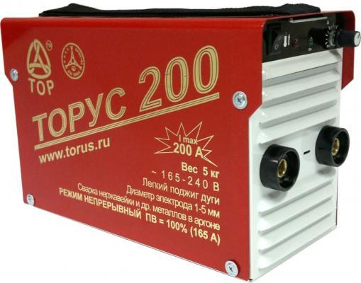 Инвертор сварочный ТОРУС 200 165-242В 6.2кВт 30-200А 2.0-5.0мм ПВ60% ММА и TIG
