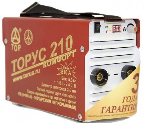 Инвертор сварочный ТОРУС 210 165-242В 6.6кВт 20-210А 2.0-5.0мм ПВ50% ММА и TIG