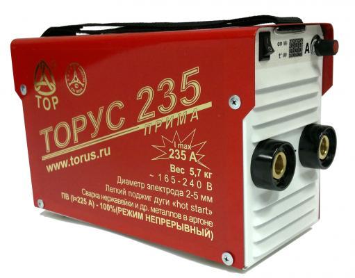 цена на Инвертор сварочный ТОРУС 235 165-242В 7.6кВт 20-235А 2.0-5.0мм ПВ100% при 220А! ММА и TIG