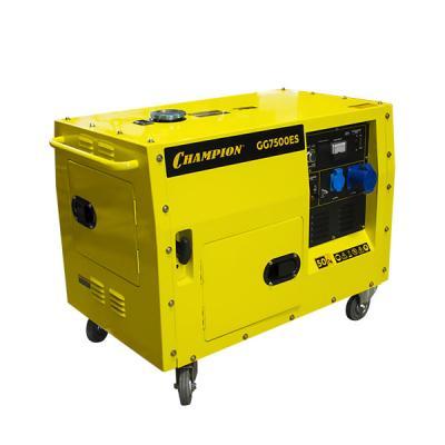 цена на Генератор CHAMPION GG7500ES 5.5/6кВт OHV420 16лс 15л 126кг 2.5л/ч 12V эл.старт колеса шумозащита