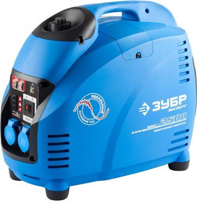 Инверторный бензиновый генератор ЗУБР ЗИГ-2500 2500/2200Вт 220В 4ткт эл-интелект генератор бензиновый зубр зиг 1200