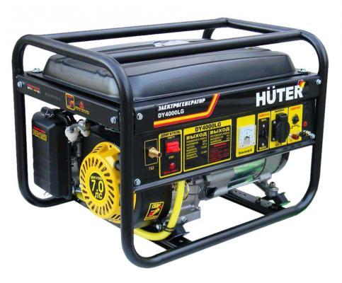 Генератор HUTER DY4000LG 3000Вт бензин/газ 15л ручной стартер цена
