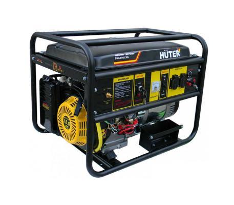 Генератор HUTER DY6500LXG 5000Вт бензин/газ 22л ручной стартер электростратер цена