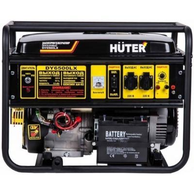 Бензоэлектростанция HUTER DY6500LX электростартер 5,0кВт 50Гц бак22л расх.374г/кВтч 74кг генератор huter dy6500lx электростартер 5000вт