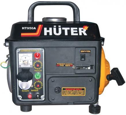 Бензоэлектростанция HUTER HT950A 0,65кВт 50Гц бак4.2л расх.534г/кВтч 20кг