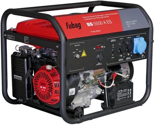 Генератор бензиновый FUBAG BS 5500 A ES с электростартером и коннектором автоматики bs 5500