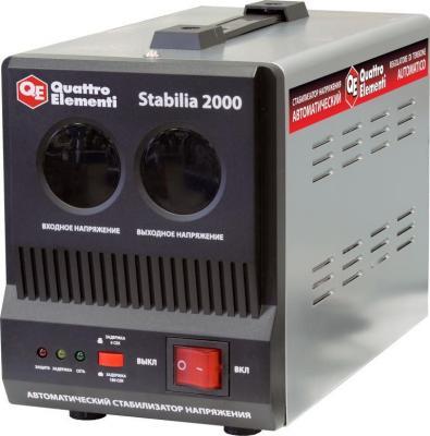 цена на Стабилизатор напряжения Quattro Elementi Stabilia 2000 2 розетки