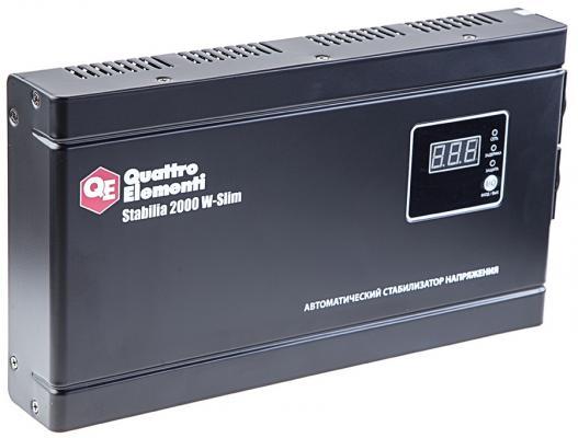 Стабилизатор напряжения QE Stabilia 2000 W-Slim 2000 ВА, 140-270 В, 4,1 кг толщина 6см стабилизатор напряжения quattro elementi stabilia 500