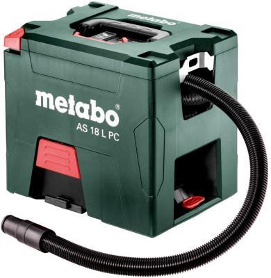 Промышленный пылесос Metabo AS 18 L PC сухая уборка зелёный промышленный пылесос dewalt dwv 901 l сухая уборка чёрный жёлтый